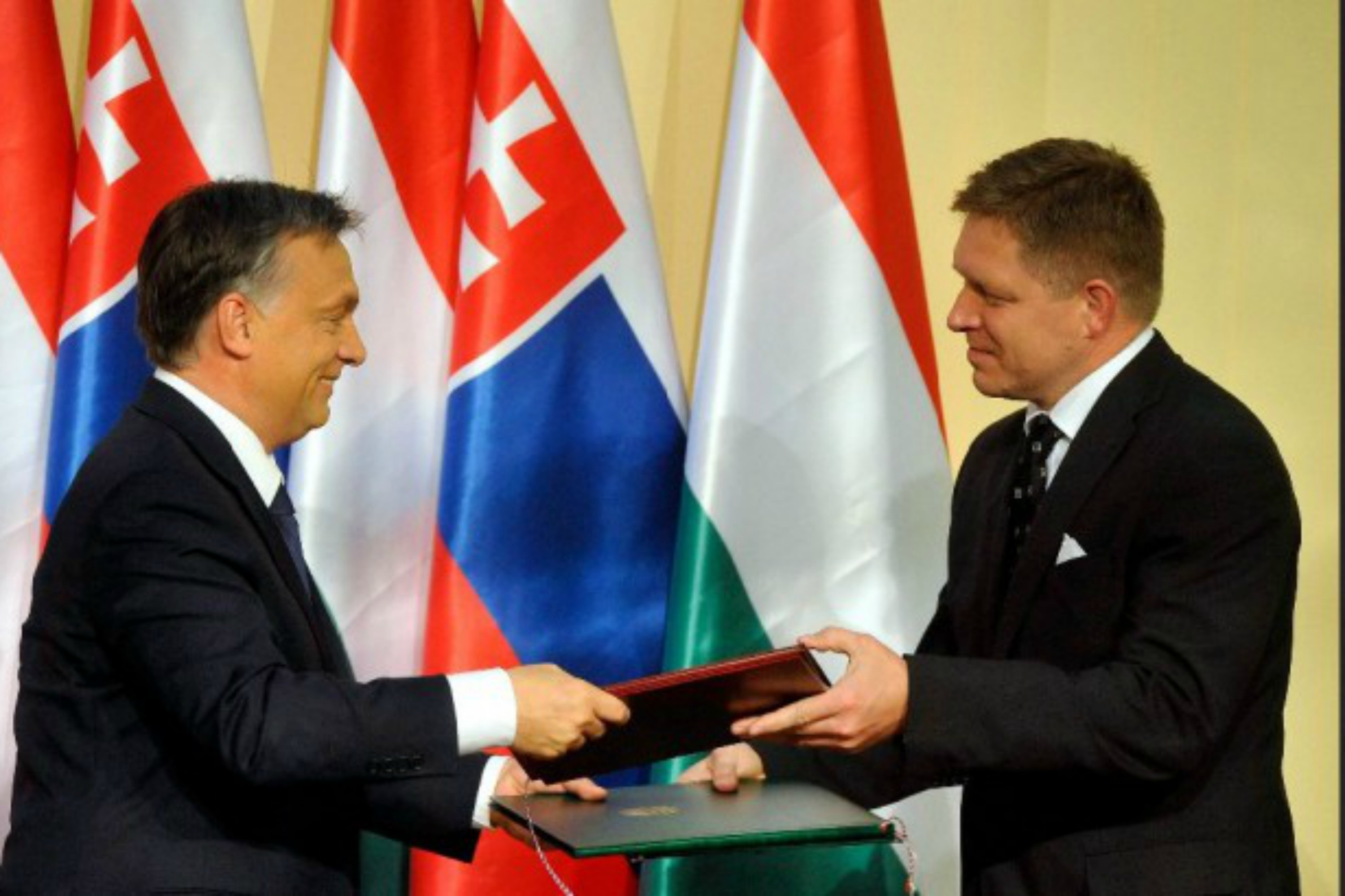 Viktor Orbán and Robert Fico