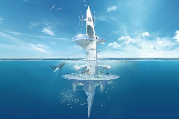 La plateforme SeaOrbiter est partiellement financée par crowdfunding © SeaOrbiter® / Jacques Rougerie