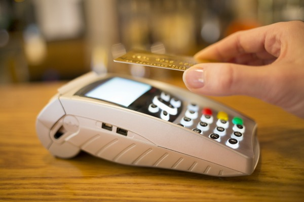 Paying with NFC technology on credit card
