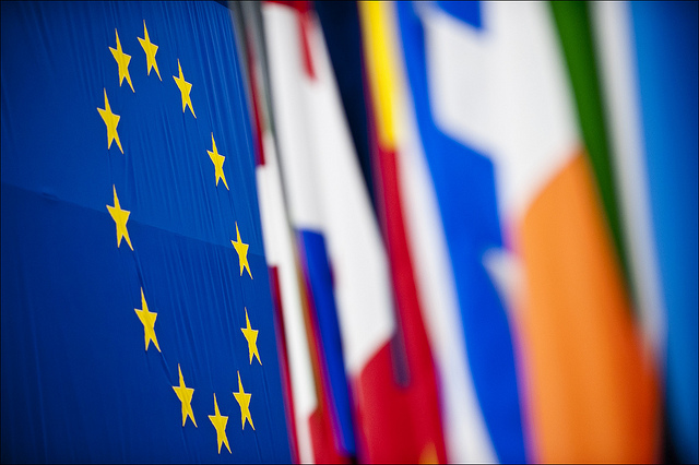 EU Flags in Parliament