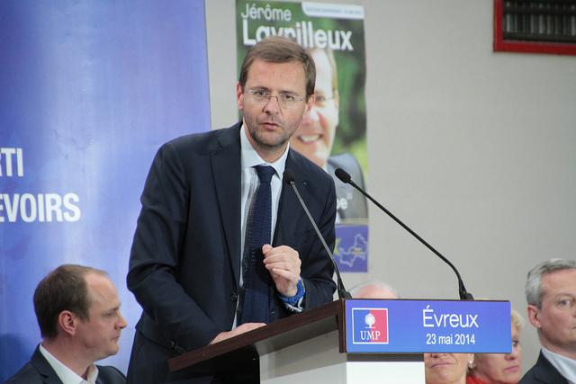 Jérôme Lavrilleux en campagne pour les élections européennes ©UMP