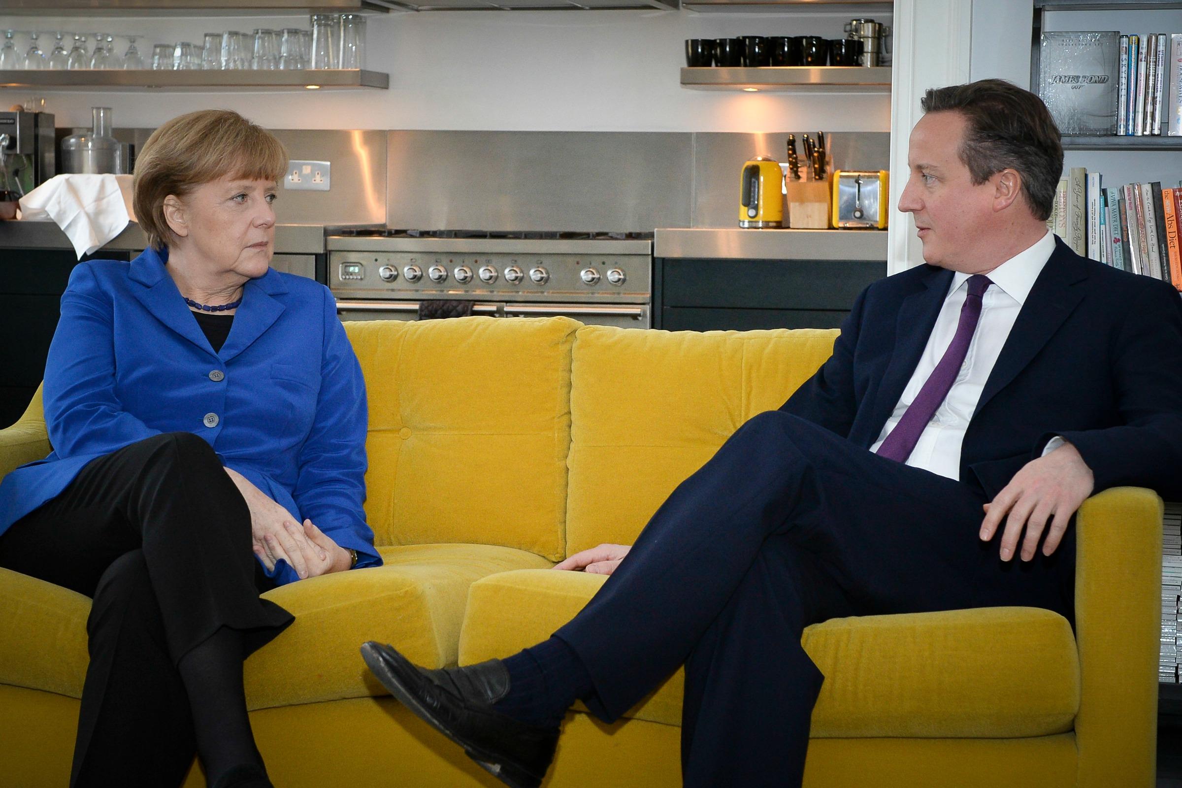 La chancelière allemande, Angela Merkel, et le premier ministre britannique, David Cameron [Number 10/Flickr]