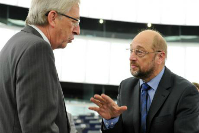 Jean-Claude Juncker et Martin Schulz. [Parlement européen]