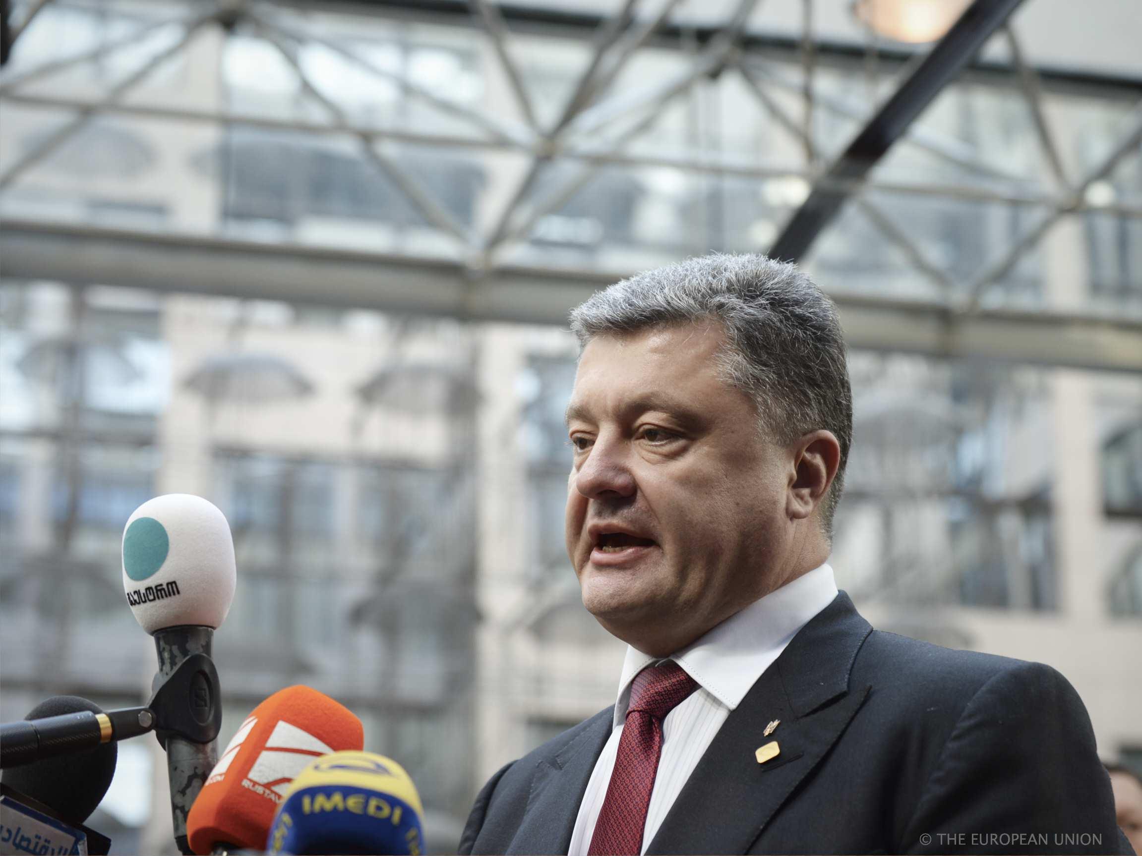 Le président ukrainien Petro Porochenko au sommet européen - Bruxelles - 27 juin 2014 - ©European Union