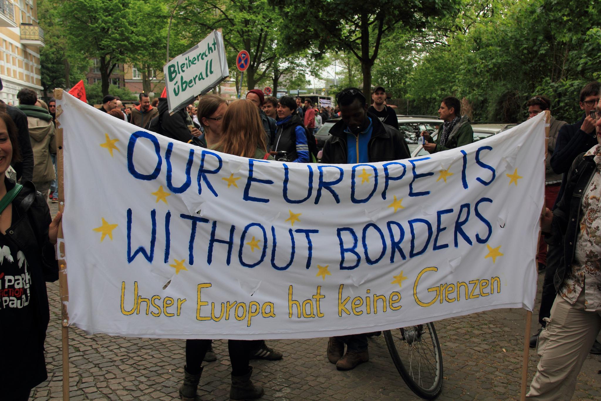 Centre d'accueil pour réfugiés à Hambourg, Allemagne. Mai 2014. [Rasande Tyskar/Flickr]