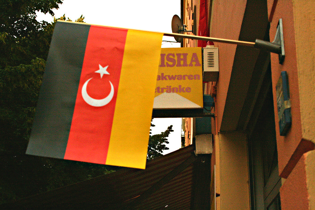 Foreign immigrants make up more than 38% of residents in Berlin's Friedrichshain-Kreuzberg district, which is home to a thriving Turkish community. Berlin, 2008. [Sven/Flickr]