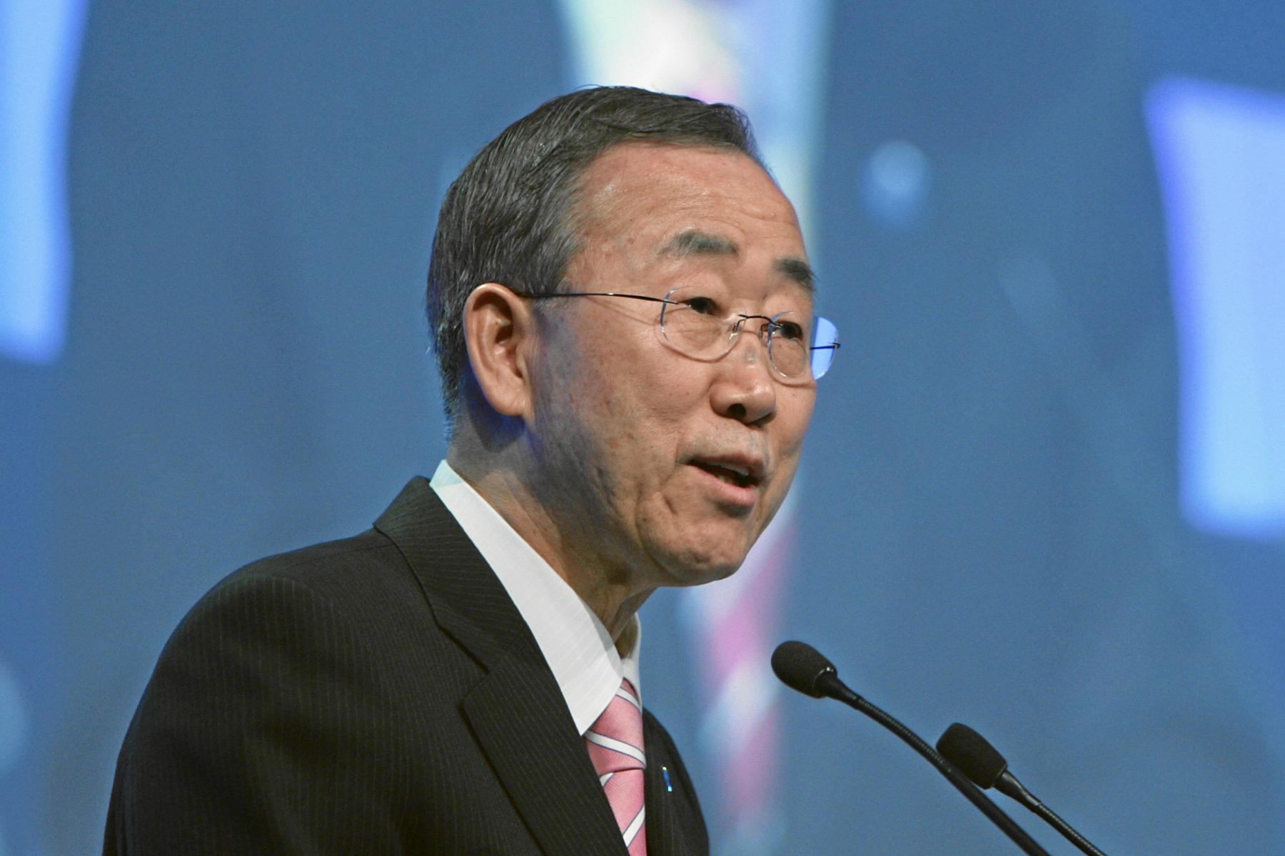 Ban Ki-moon, secretary general of the UN [World Economic Forum]