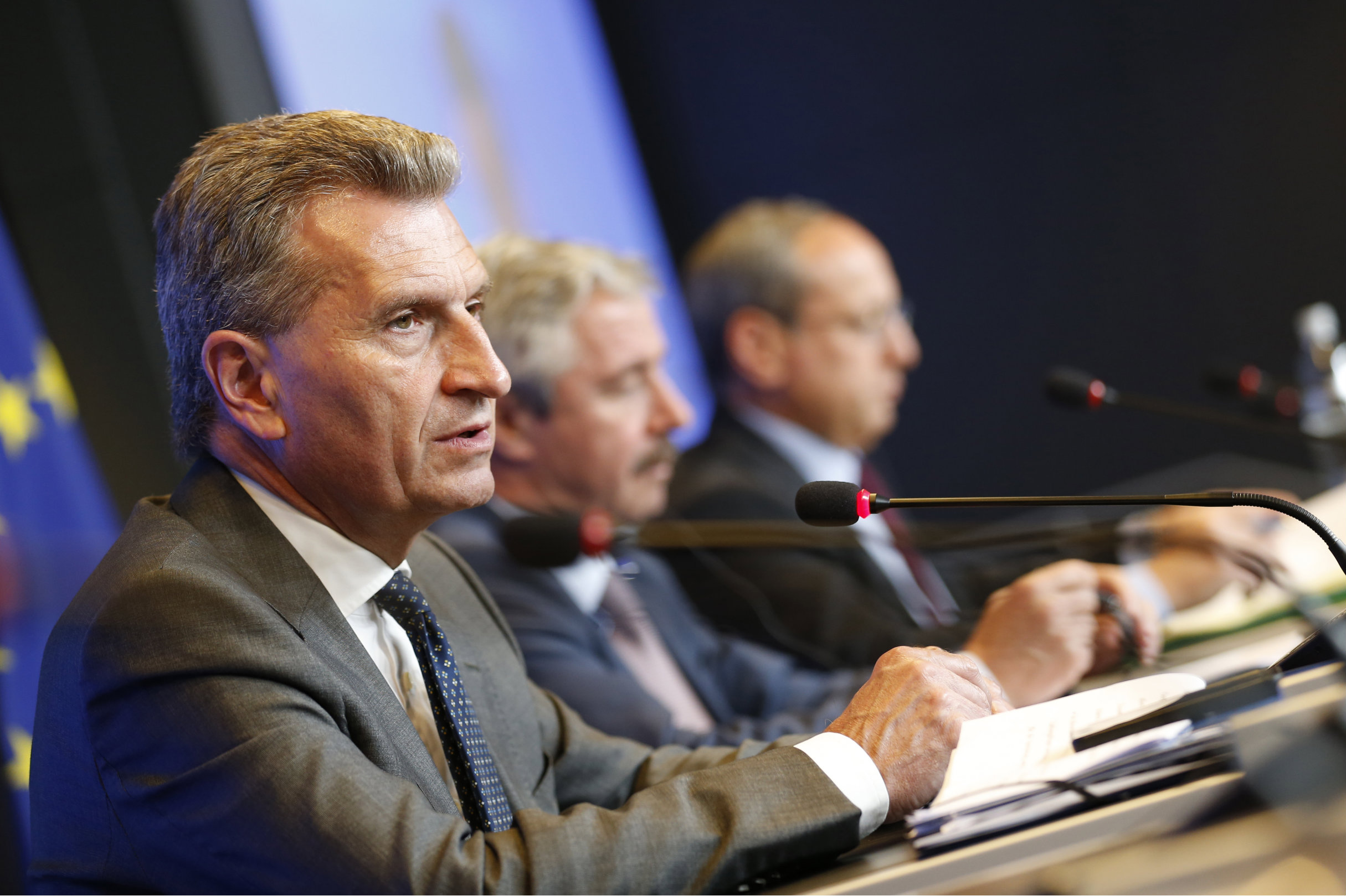 Energy Commissioner Günther Oettinger. [The Council of the European Union]