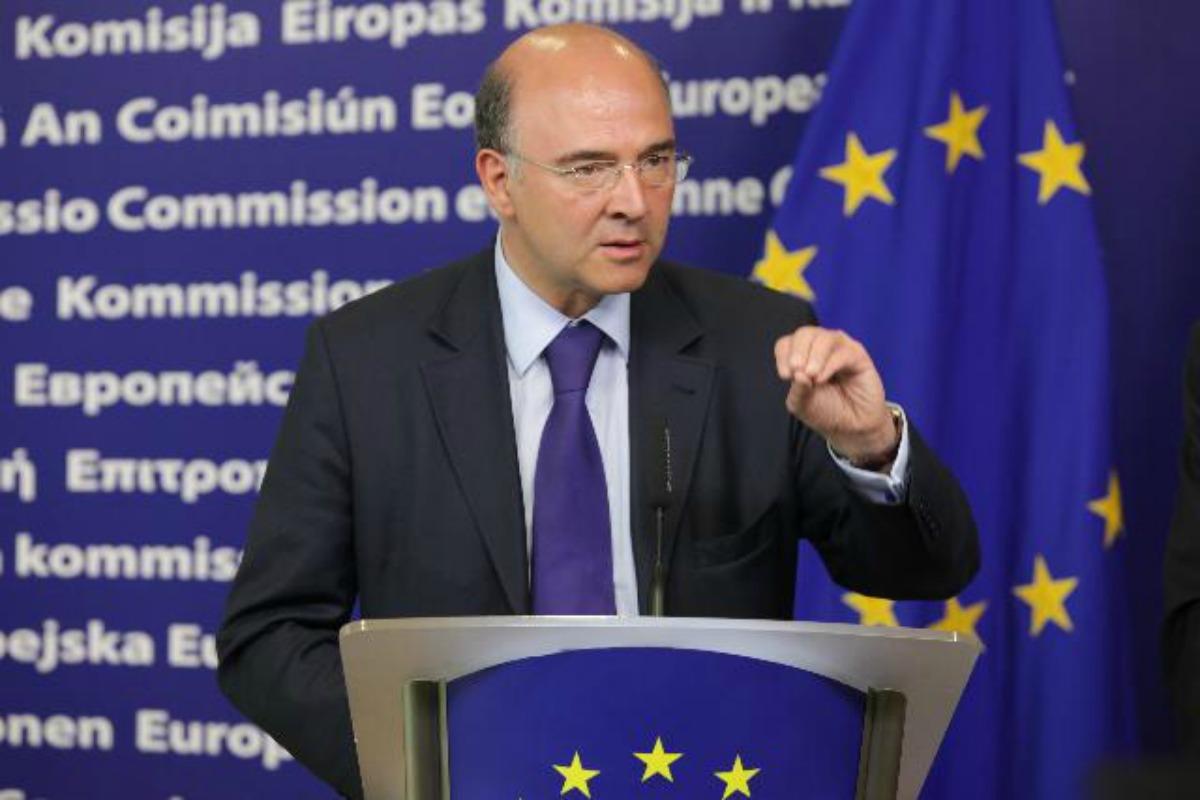 Pierre Moscovici à la Commission européenne à Bruxelles