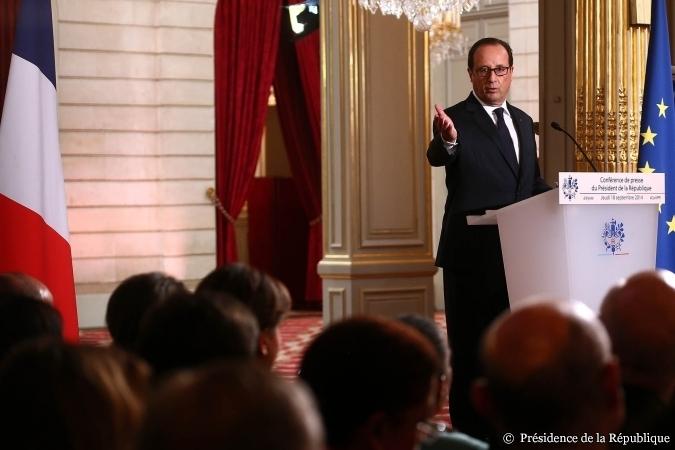 Conférence de presse de François Hollande - 18 septembre - Copyright: Présidence de la République