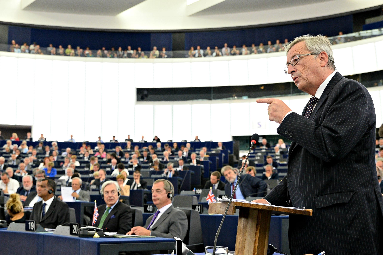 Jean-Claude Juncker devant le Parlement européen à Strasbourg - Copyright: Parlement européen