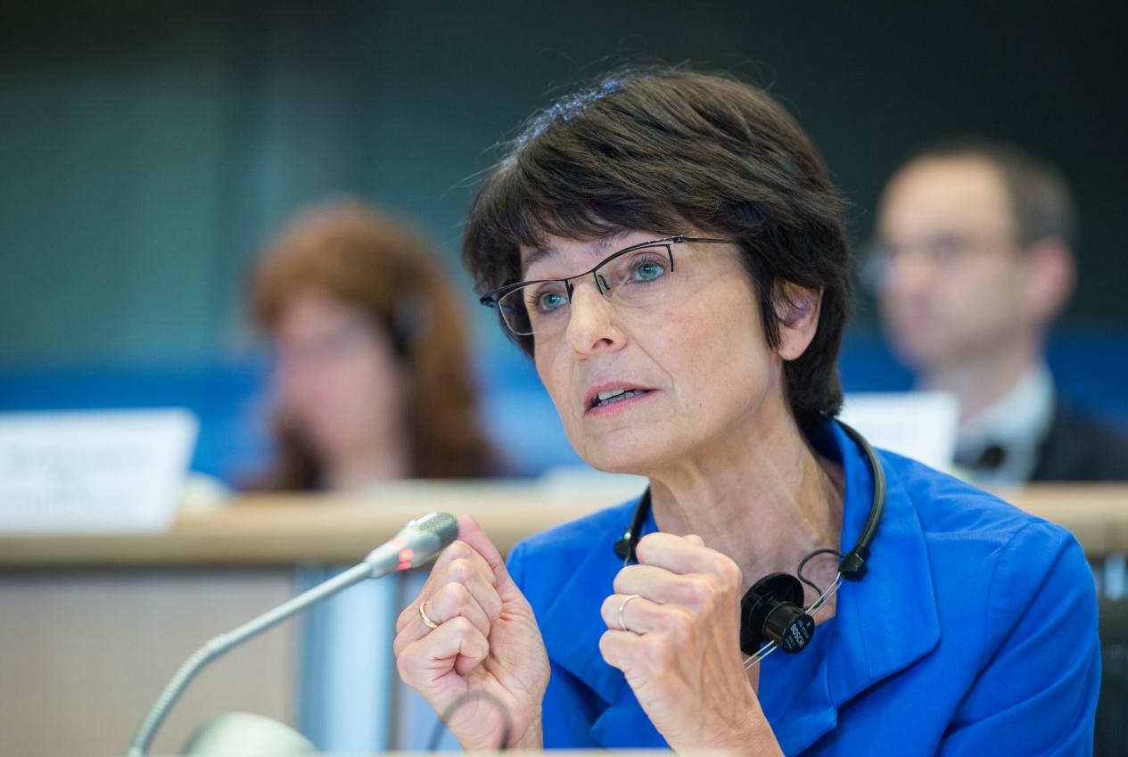 La commissaire européenne en charge de l'emploi et des affaires sociales, Marianne Thyssen, lors de son audition au Parlement européen - octobre 2014 ©Parlement européen