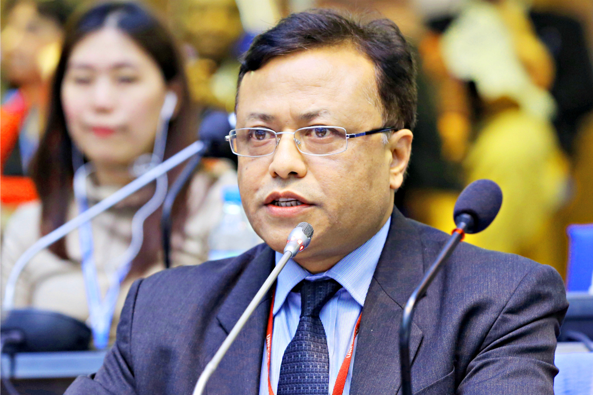 Prakash Mathema, Chair of Least Developed Countries Group at UN Climate Change Negotiations - ©International Institute for Sustainable Development.