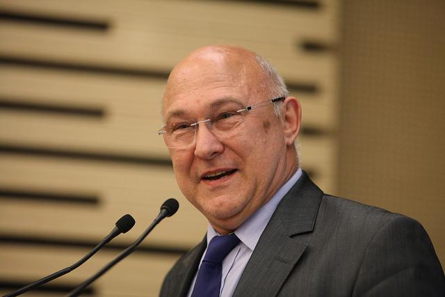 Le ministre des Finances, Michel SAPIN. © Parti socialiste/Philippe GRANGEAUD