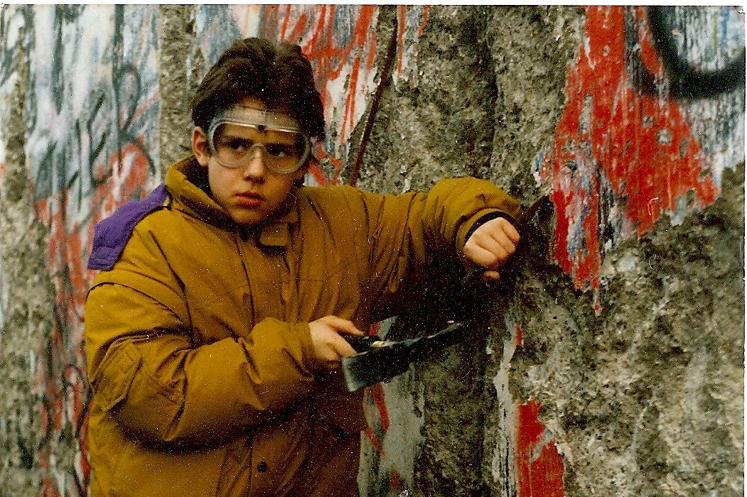 Matthias Fekl, l'actuel secrétaire d'Etat au Commerce extérieur lors de la chute du mur de Berlin,