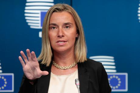 Federica Mogherini, la nouvelle Haute Représentante de l'UE pour la politique étrangère et de sécurité à Bruxelles