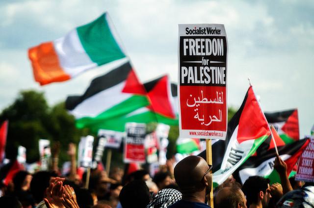Manifestation en faveur de la création d'un Etat palestinien