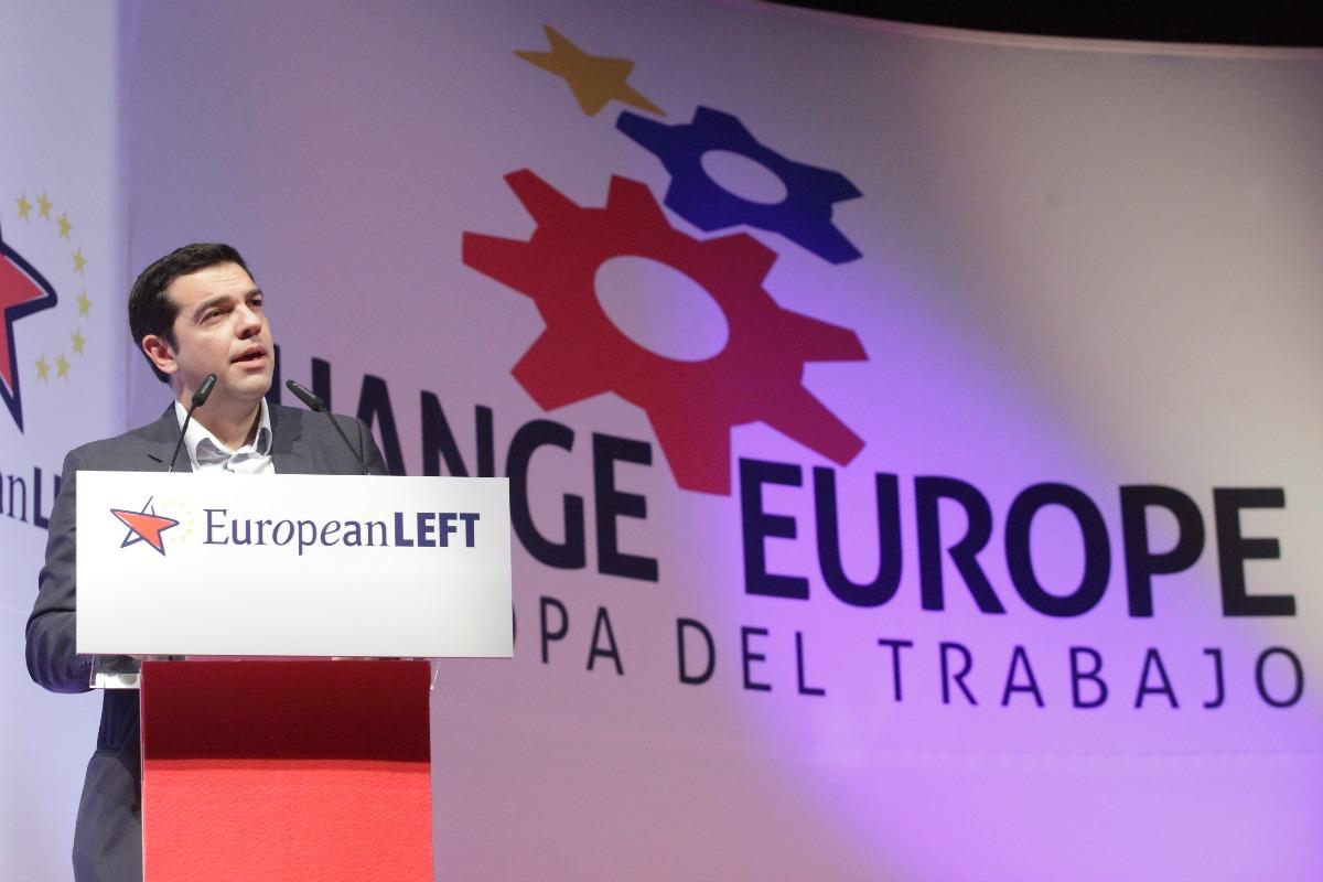 Alexis Tsirpas au quatrième congrès de la Gauche européenne, décember 2013.