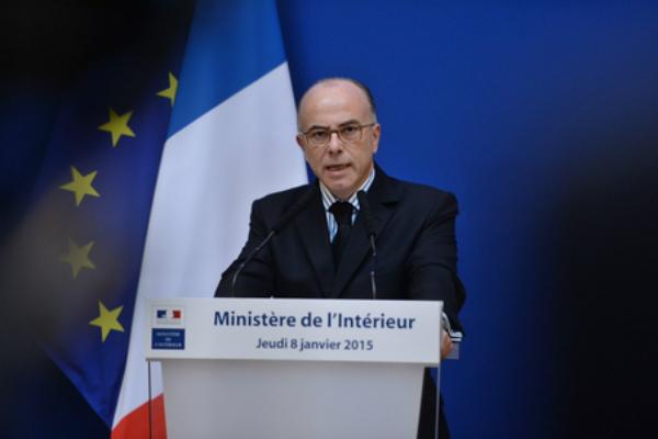 Conférence de presse du ministre de l'Intérieur le 08 janvier 2015