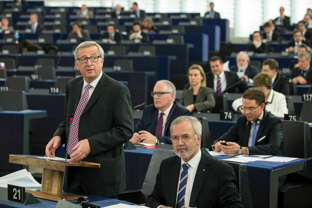 Jean-Claude Juncker in the European Parliament, 26 Nov. 2014 [EC]