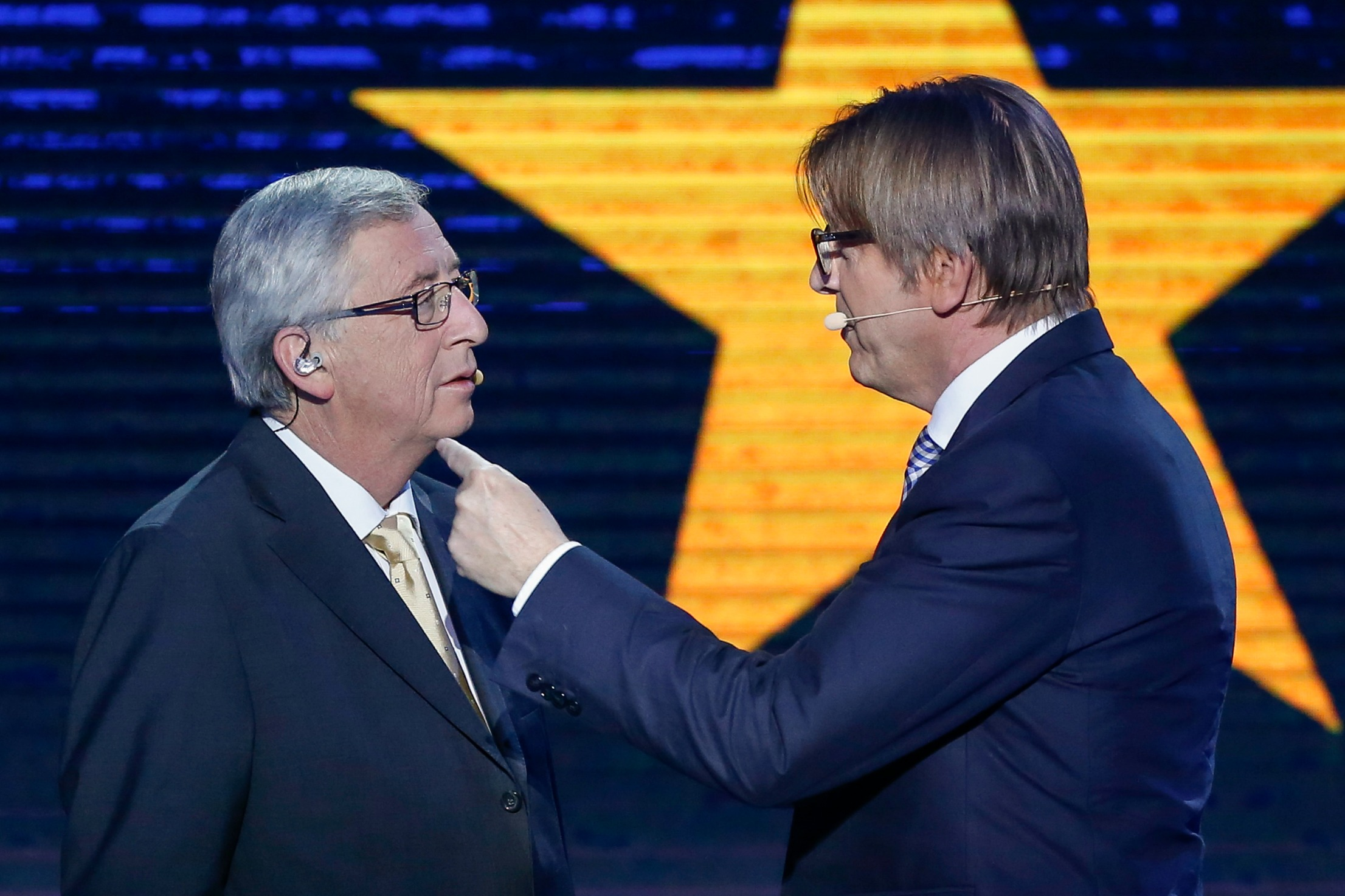 Jean-Claude Juncker and liberal leader in the EP, Guy Verhofstadt [European Parliament]