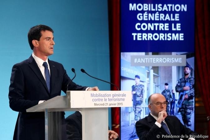 Le premeir ministre Manuel Valls a annoncé un train de mesures contre le terrorisme / ©Présidence de la République