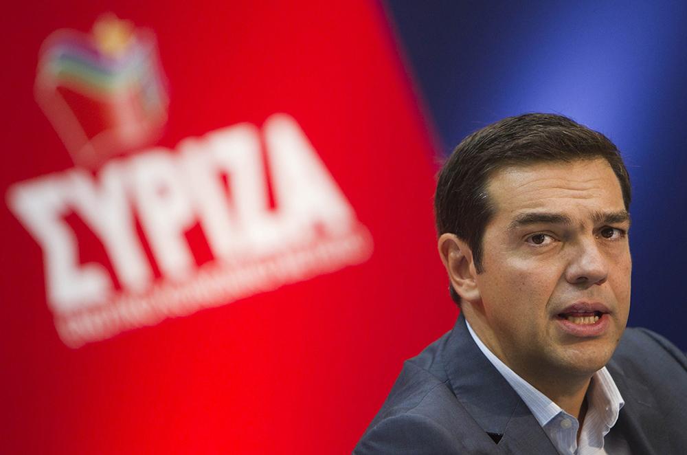 Alexis Tsipras, chef de file du parti d'extrême gauche Syriza en Grèce