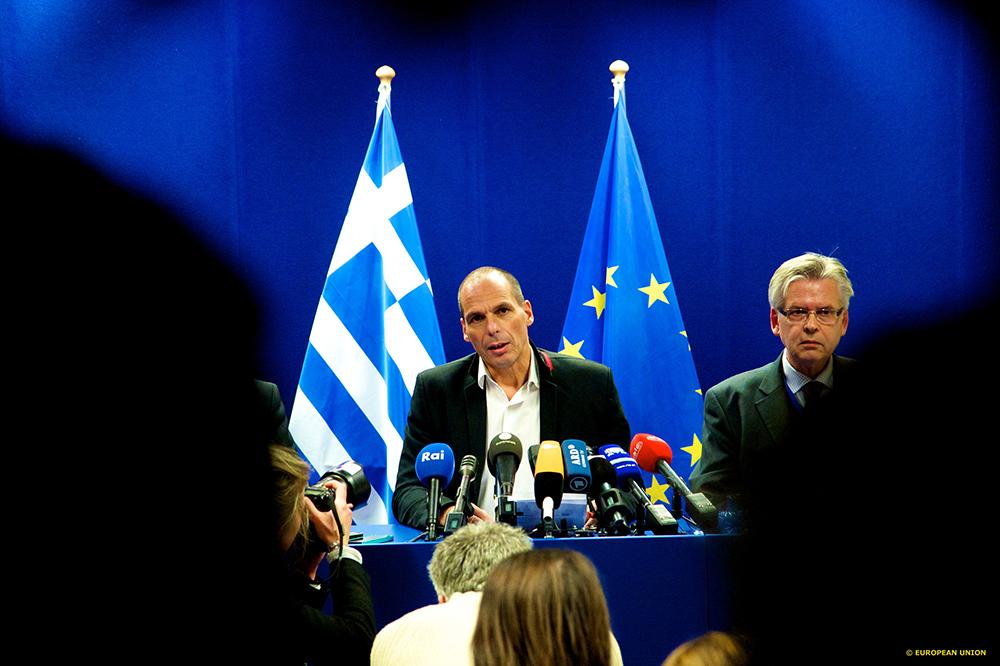 Le ministre des Finances grec, Yanis Varoufakis à Bruxelles
