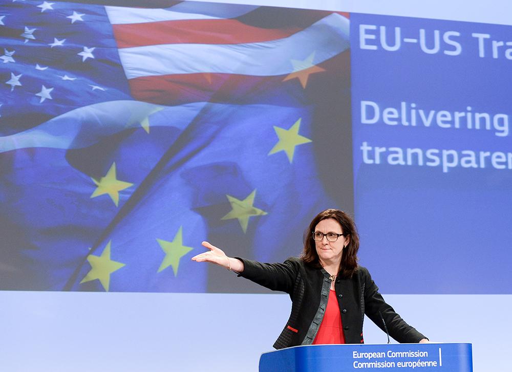 La commissaire européenne Cecilia Malmström est en charge du dossier du TTIP