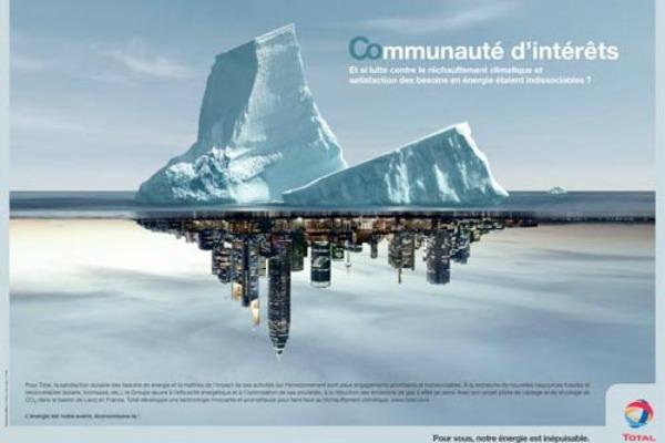 La dernière campagne du groupe pétrolier Total évoque la question climatique