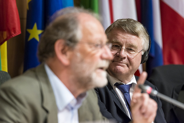 Green MEP Michael Cramer with Committee of the Regions President Markku Markkula