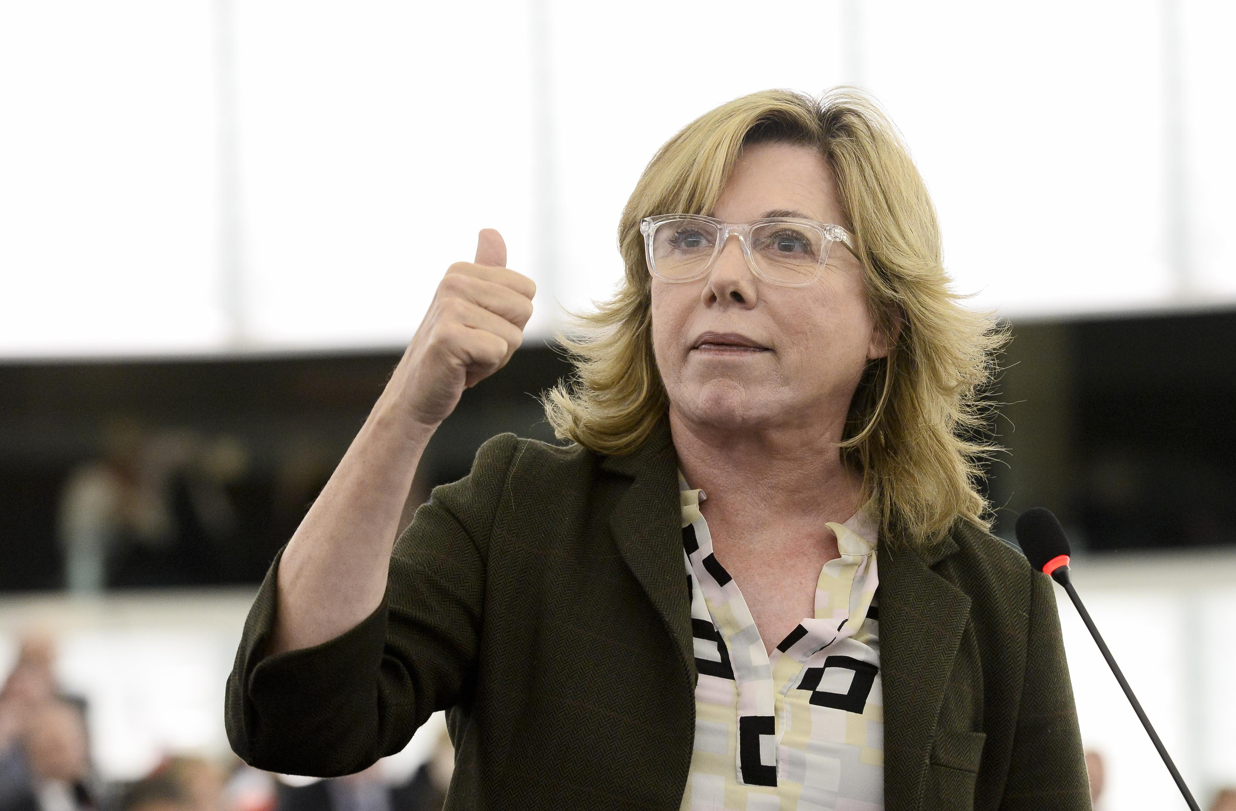L'eurodéputée espagnole Pilar del Castillo est rapporteur de la loi sur le marché unique des télécoms.