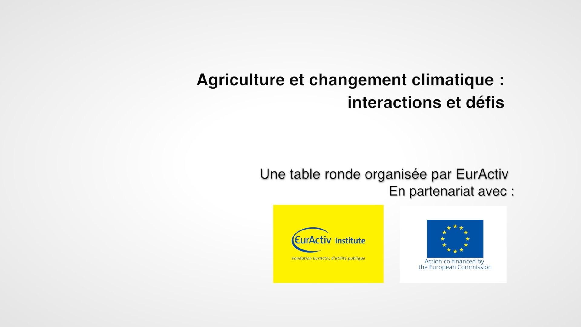 Agriculture et changement climatique : interactions et défis