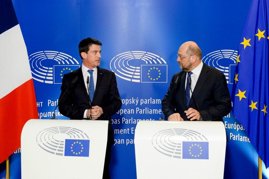 Hasard de calendrier, le premier ministre MAnuel Valls est venu à Strasbourg lavant l'adoption du PNR, dont il est un fervent défenseur.