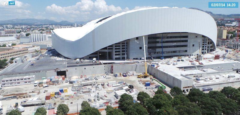 Le stade de l'OM, à Marseille