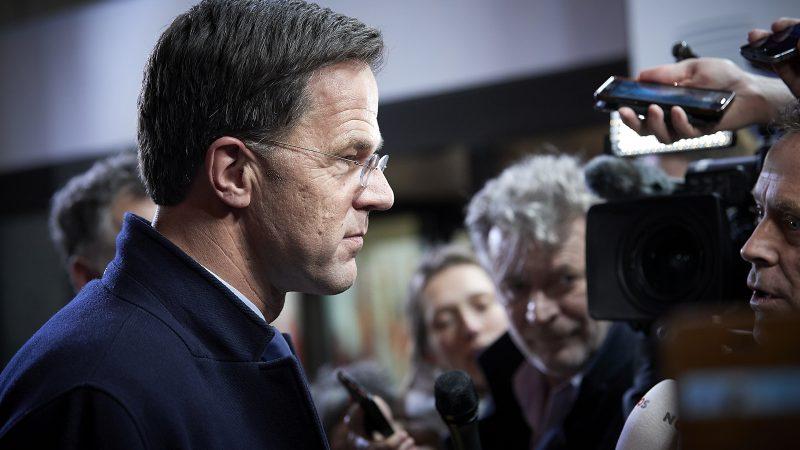 """Marke Rutte, le Premier ministre néerlandais, mène le front des """"frugaux"""". Photo EUCO"""