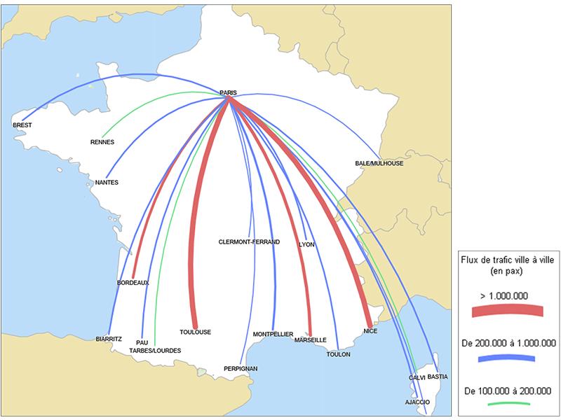 Liaisons radiales en métropole